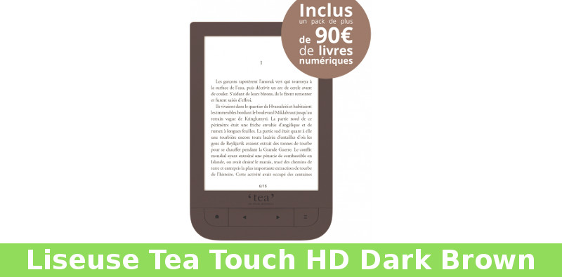 Liseuse Tea Touch Hd Dark Brown