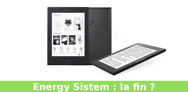 Fin des liseuses Energy Sistem ?