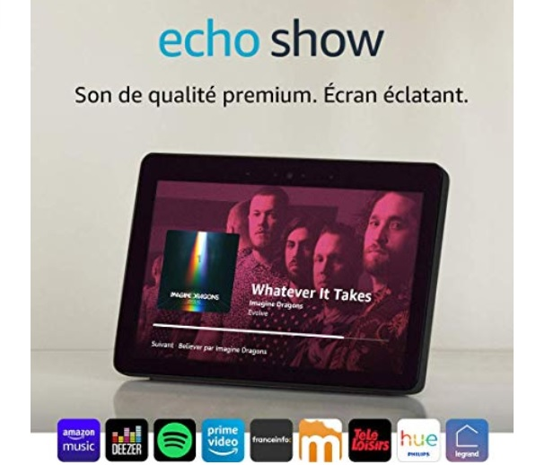 assistant personnel intelligente avec écran de 10 pouces : Echo Show
