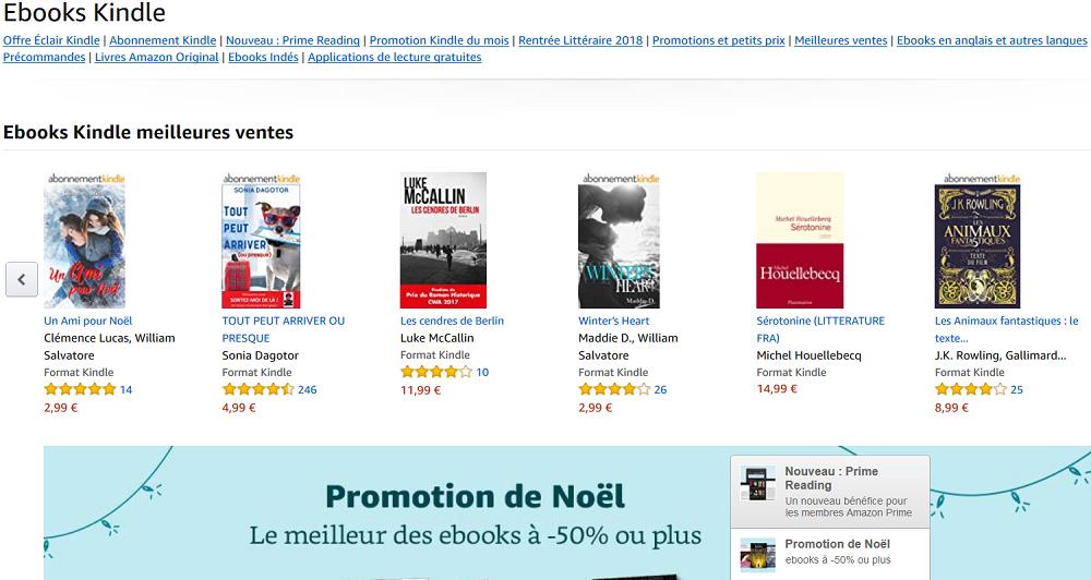Librairie Kindle : des nouveautés, des promotions et des ebooks gratuits