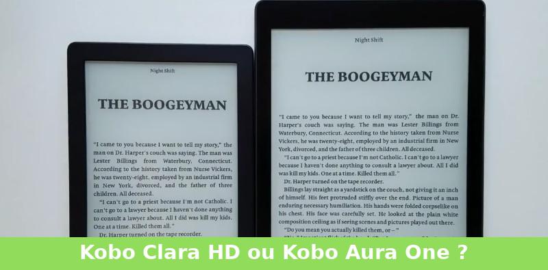 comparaison kobo clara hd et kobo aura one