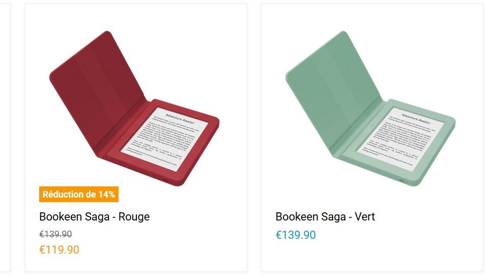 C'est le moment de se faire plaisir avec une Bookeen Saga !