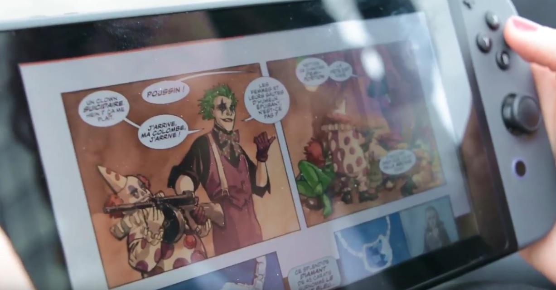 des bandes dessinées iznéo sur console nintendo switch