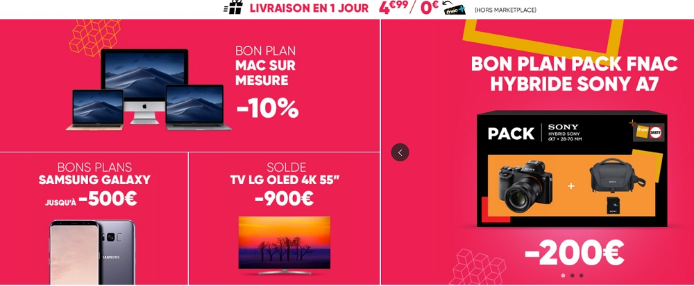 De belles promotions chez Fnac.com 2019