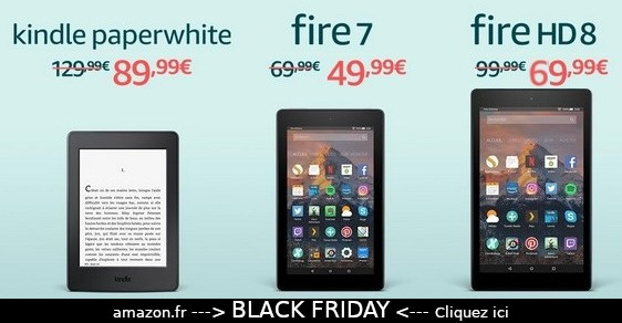 promo liseuse paperwhite black friday