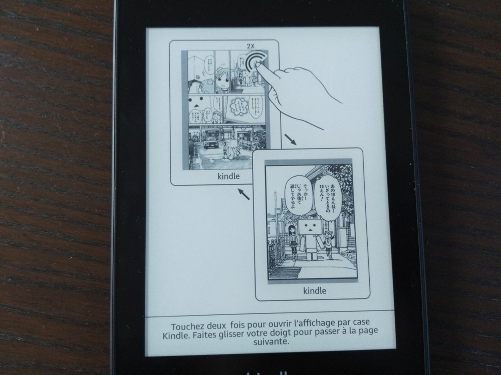 Test Kindle Paperwhite : lecture bd case par case