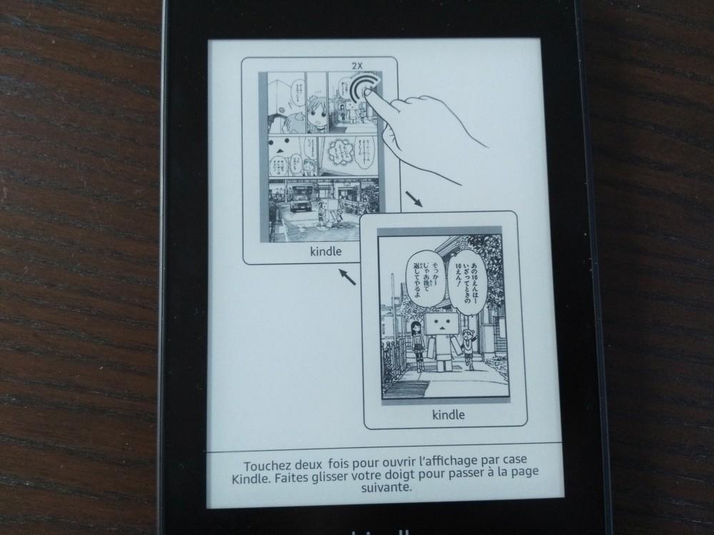 Test Kindle Paperwhite : lecture bd case par case