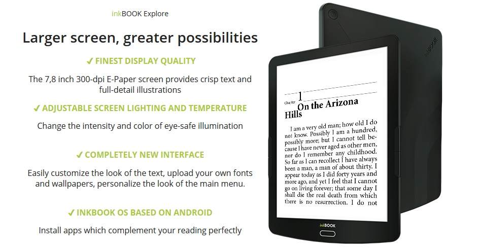 Liseuse Inkbook Explore
