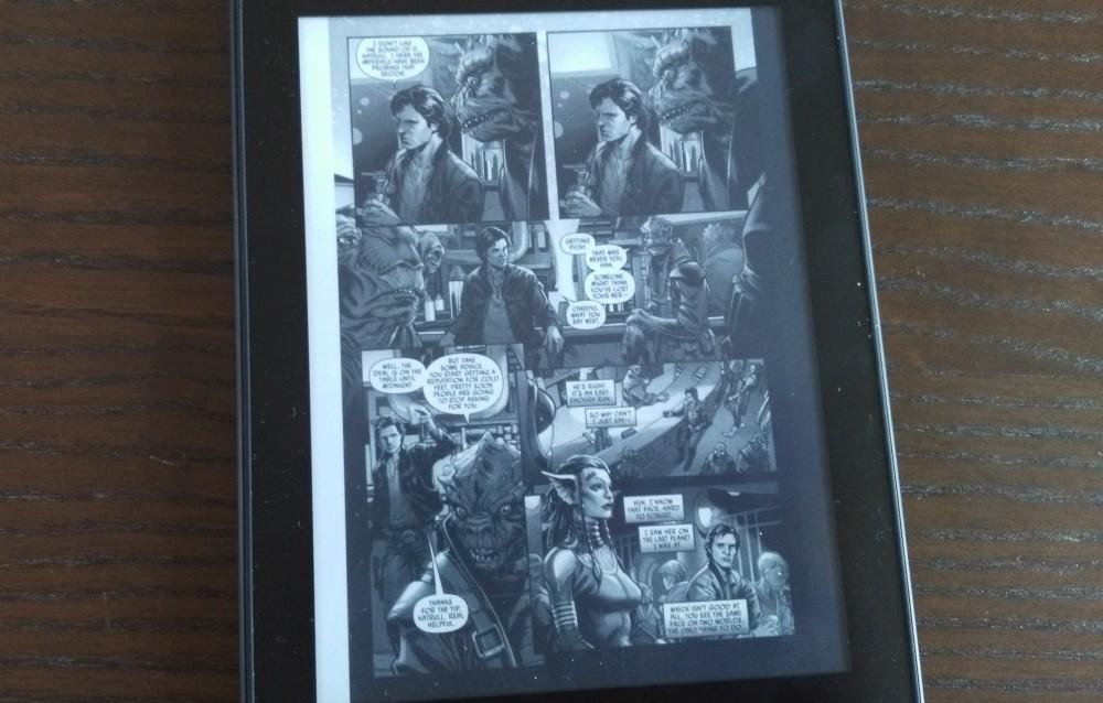 Test Kindle Paperwhite : lecture d'un comics