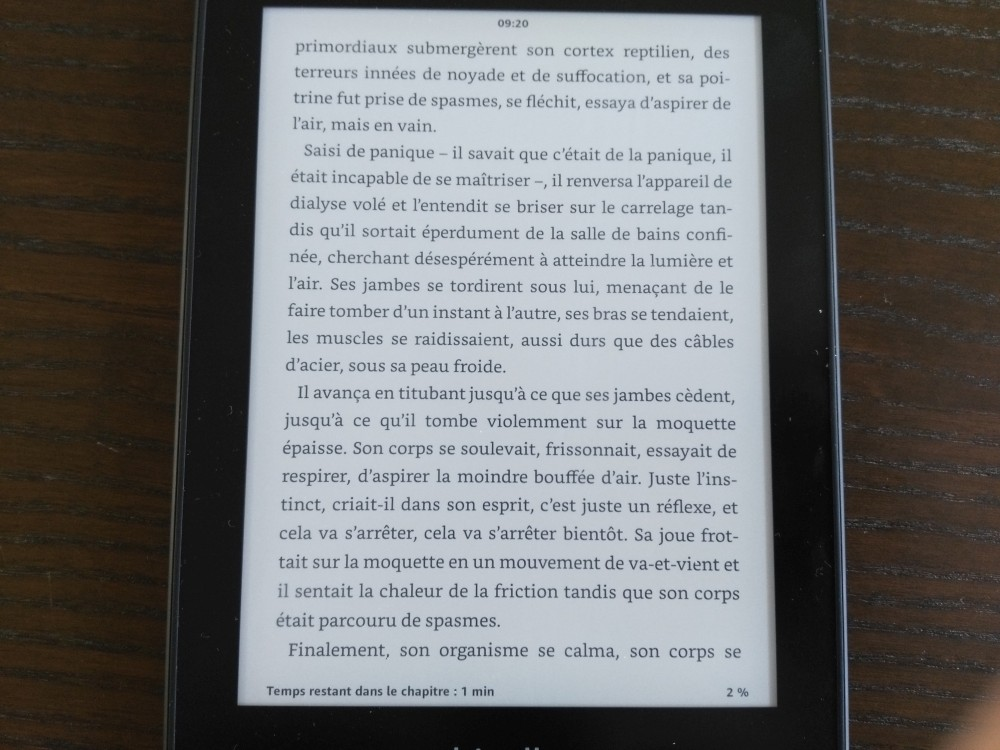 Test Kindle Paperwhite : lecture d'un ebook sur la liseuse