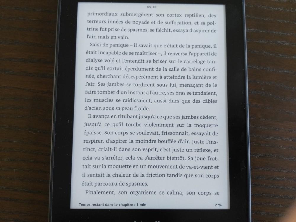 Test Kindle Paperwhite : lecture d'un ebook sur la liseuse