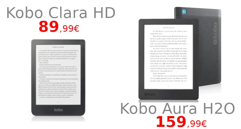 promo kobo aura H2O et kobo Clara HD