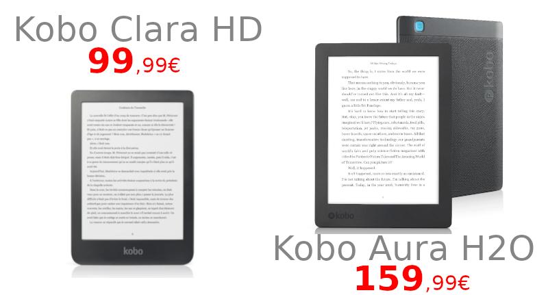 Promotion sur les liseuses Kobo Clara HD et Kobo Aura H2O
