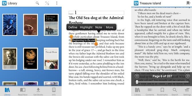Bluefire Reader : une application de lecture sur tablette simple