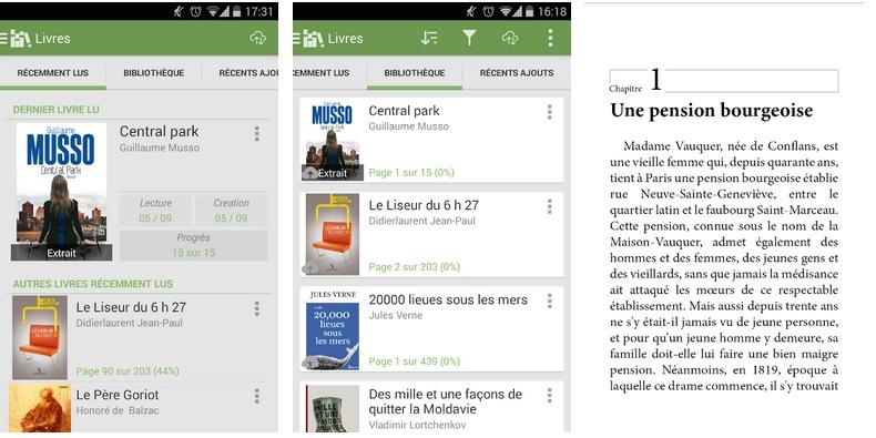 Application Aldiko pour lire des livres sur tablette et smartphone.