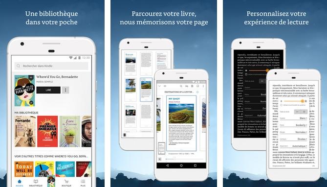 application amazon kindle sur smartphone