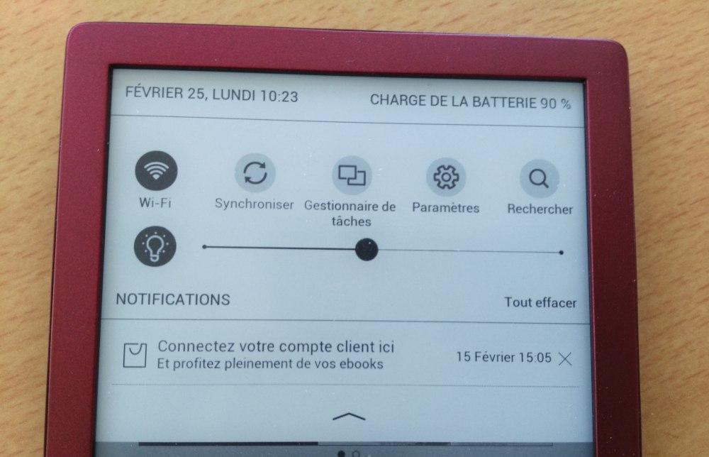 test liseuse Touch Lux 4
