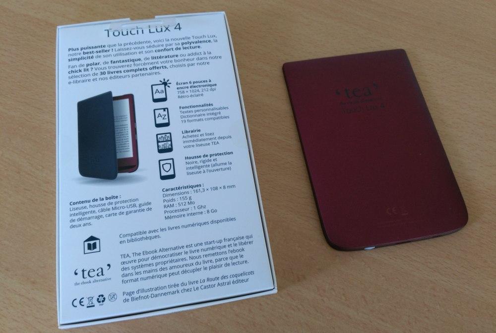 test liseuse Touch Lux 4 caractéristiques