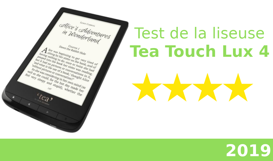 test liseuse tea touch lux 4