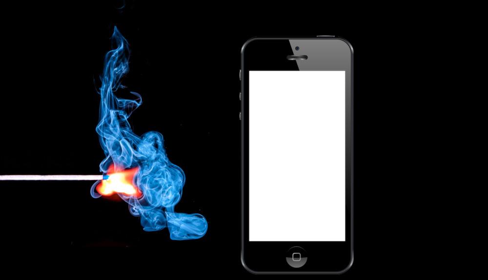 apple iphone feu incendie