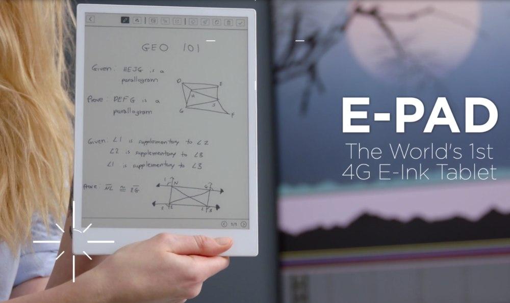 Liseuse e-pad connexion 4G