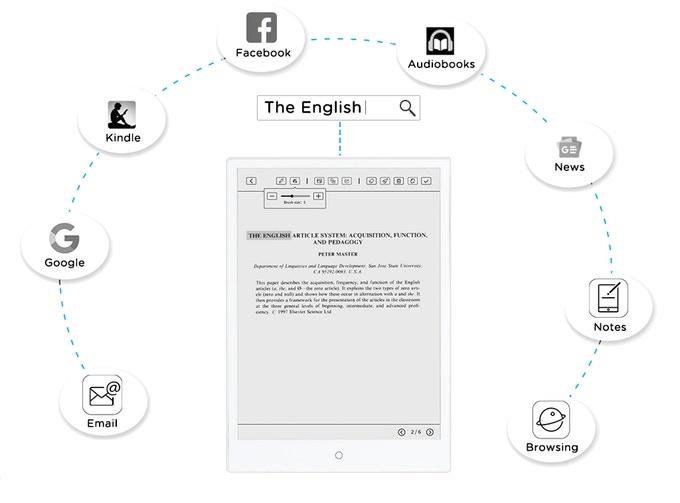 De nombreuses applications disponibles pour la liseuse E-Pad