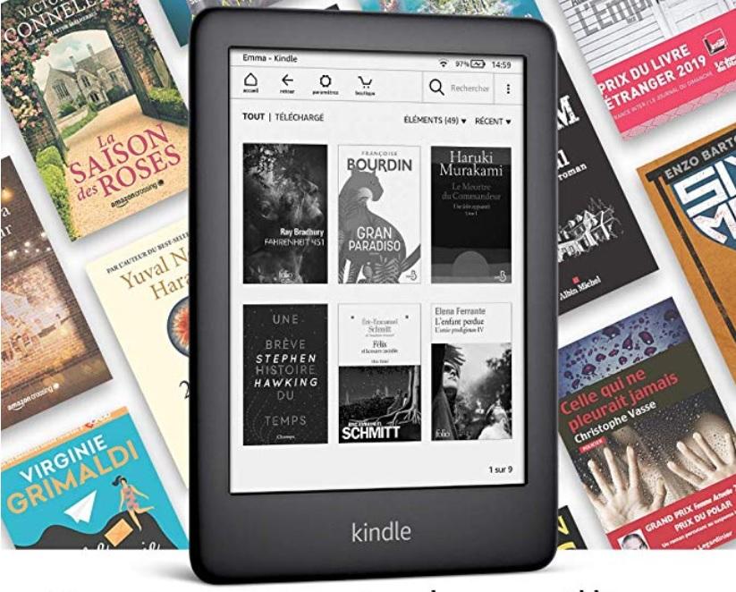 La liseuse Kindle 2019 est compatible avec Prime Reading et l'Abonnement Kindle