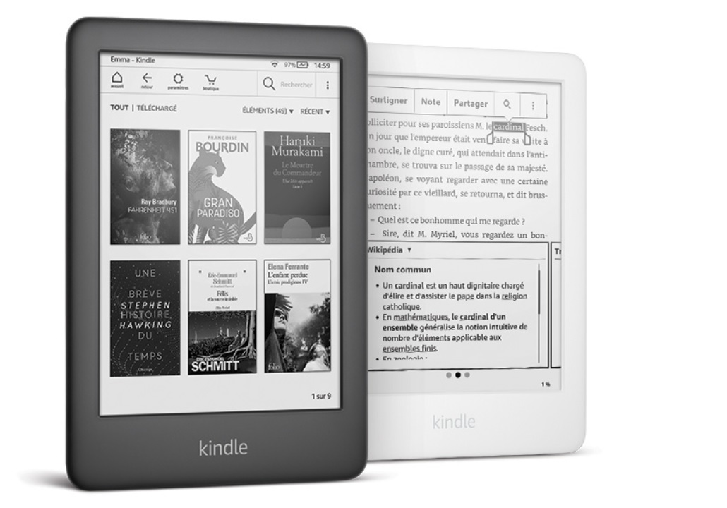 Liseuse Kindle de 2019 : en noir ou blanc