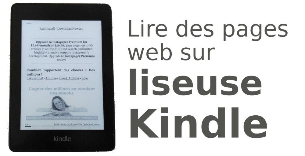 Guide pour Instapaper et liseuse Kindle