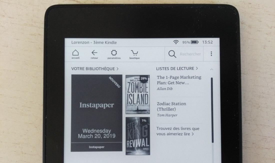 Un nouvel ebook est présent : il contient les articles Instapaper