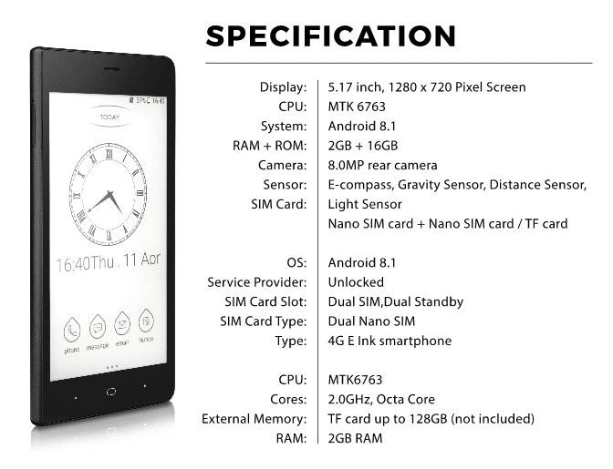 smartphone kingrow k1 caractéristiques