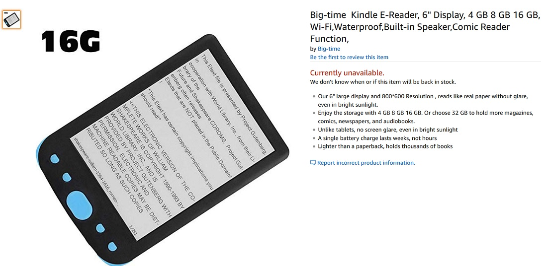 liseuse big time ereader