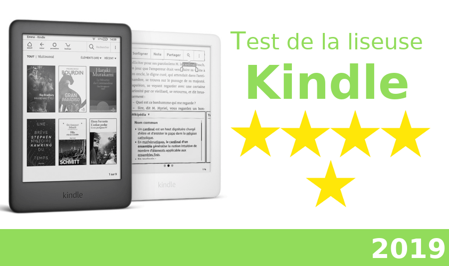 test de la liseuse Kindle