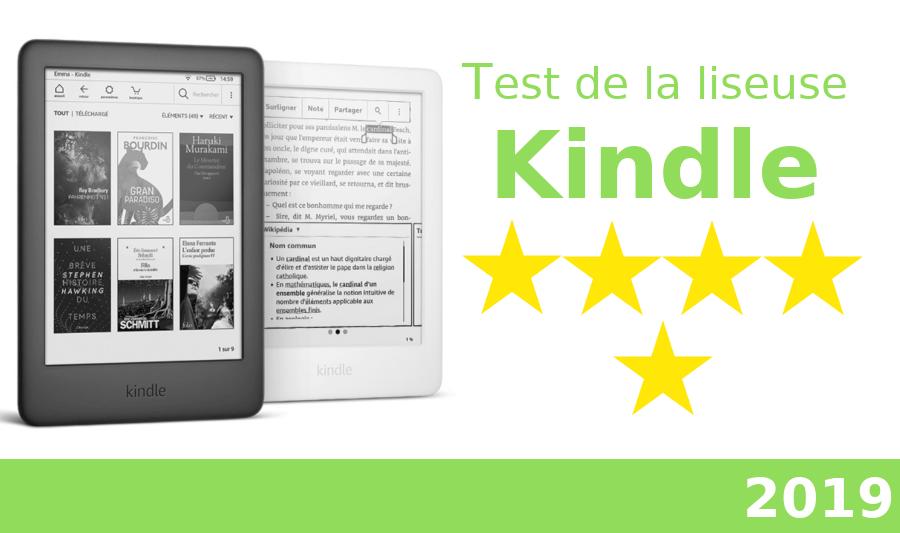 test de la liseuse Kindle