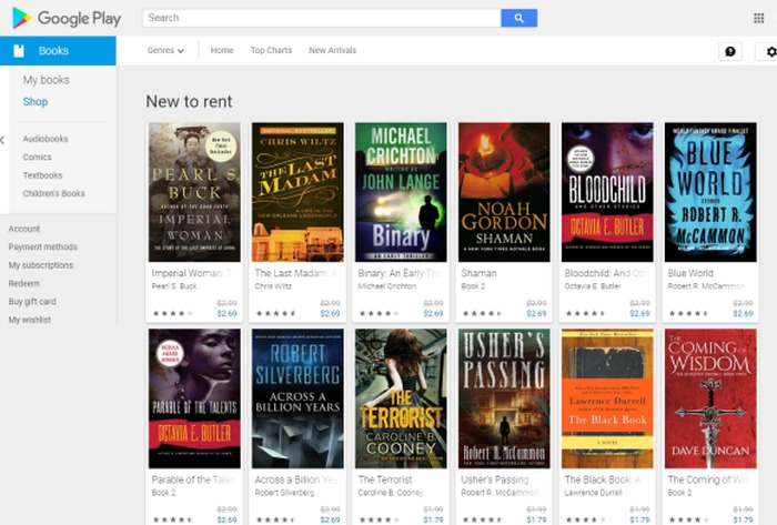 location de livres google play