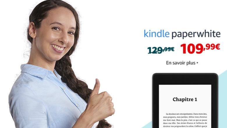 liseuse Kindle Paperwhite en promotion