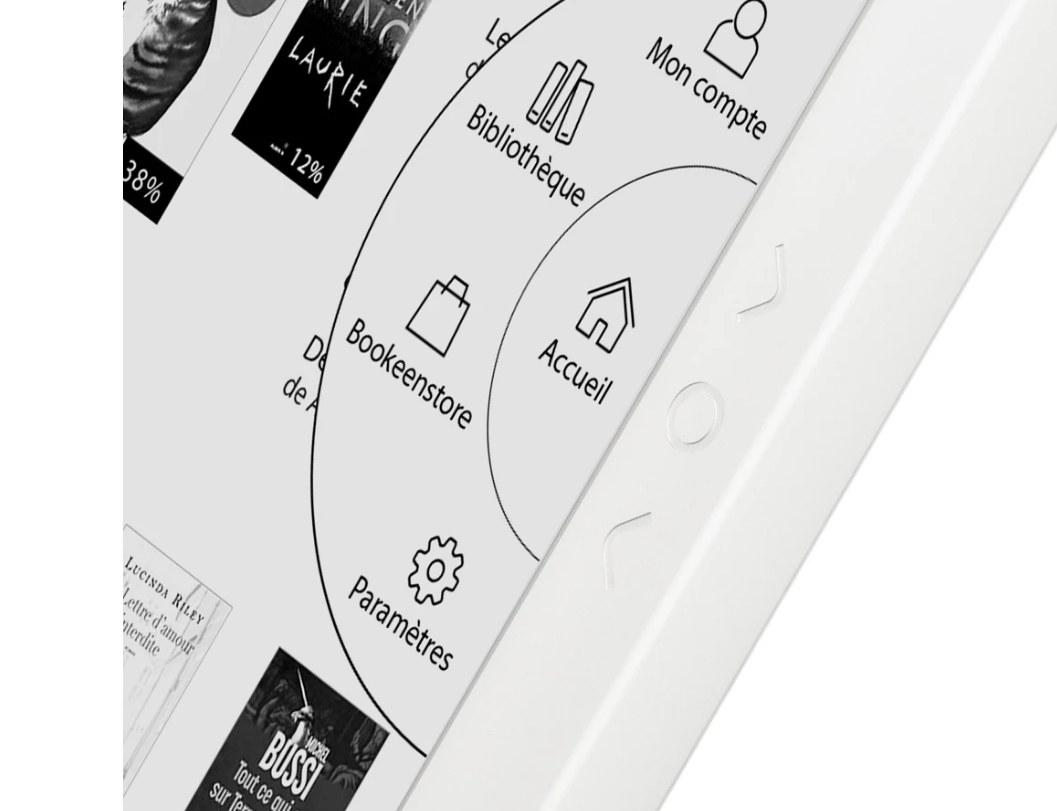 interface liseuse Bookeen Diva