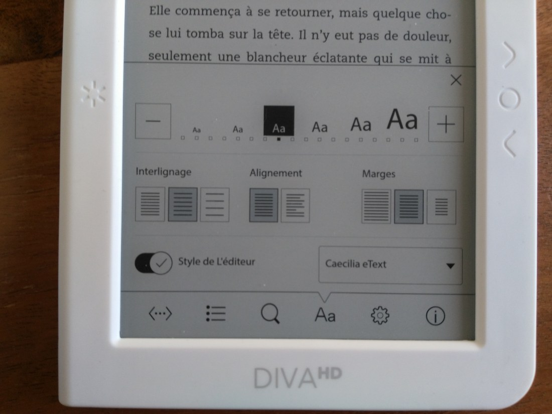 ereader bookeen diva hd