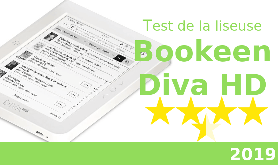 test liseuse Bookeen Diva HD