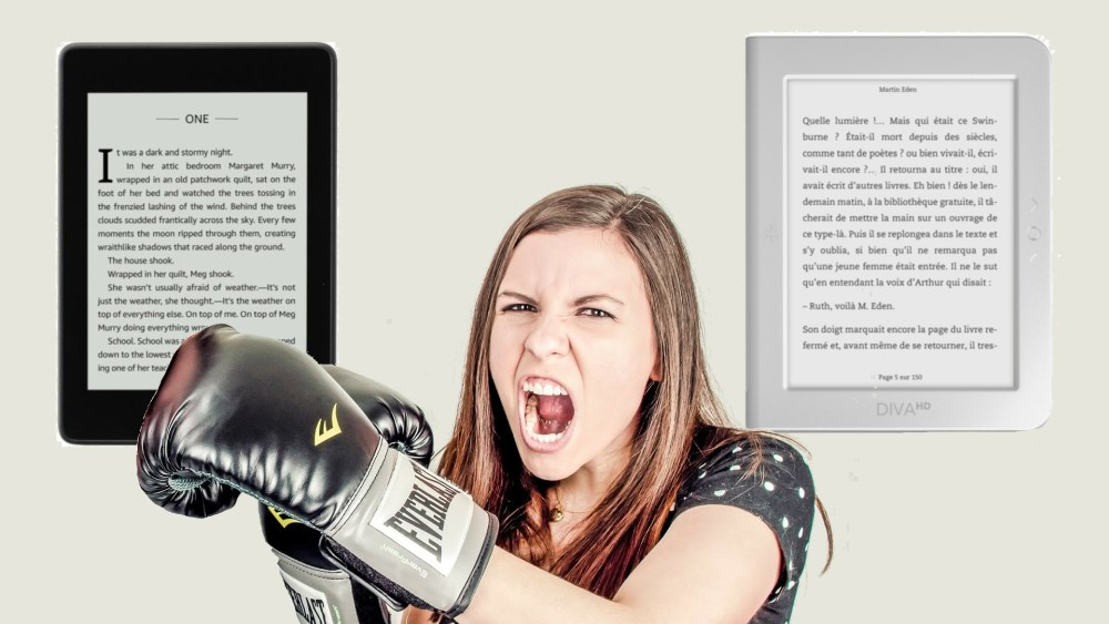 kindle paperwhite ou bookeen diva hd