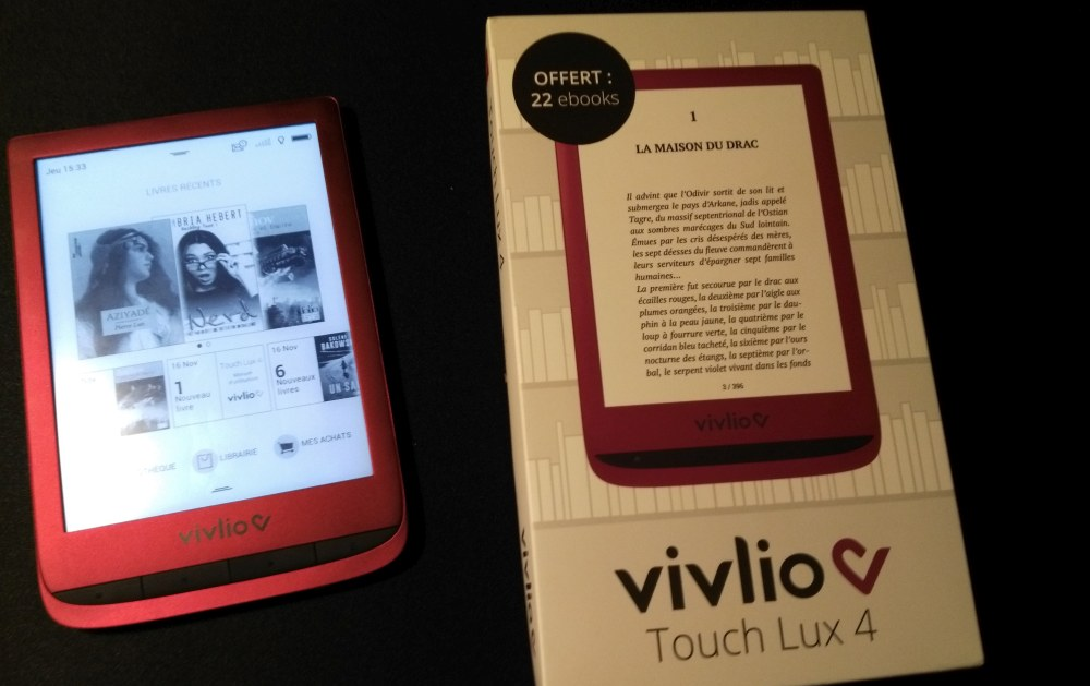 liseuse vivlio touch lux 4