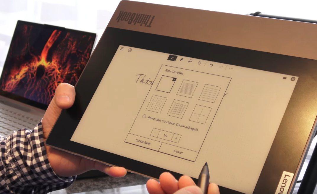 Lenovo Thinkbook Plus dual-display E-ink-One-Note