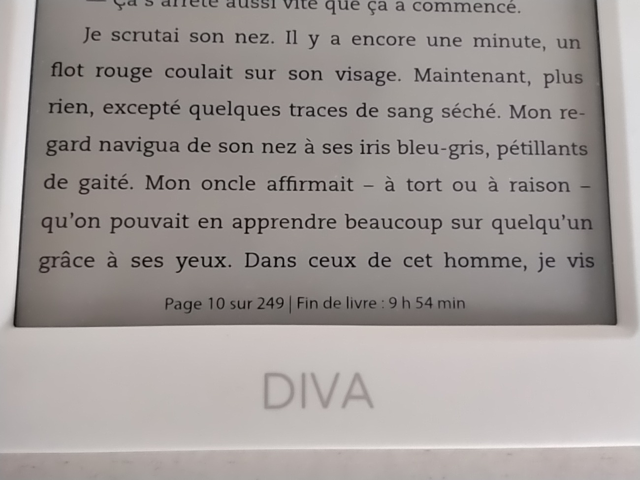 Bookeen Diva statistiques lecture