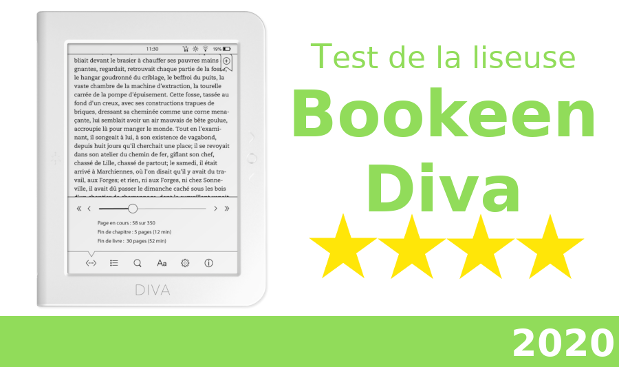 test liseuse bookeen diva 2020