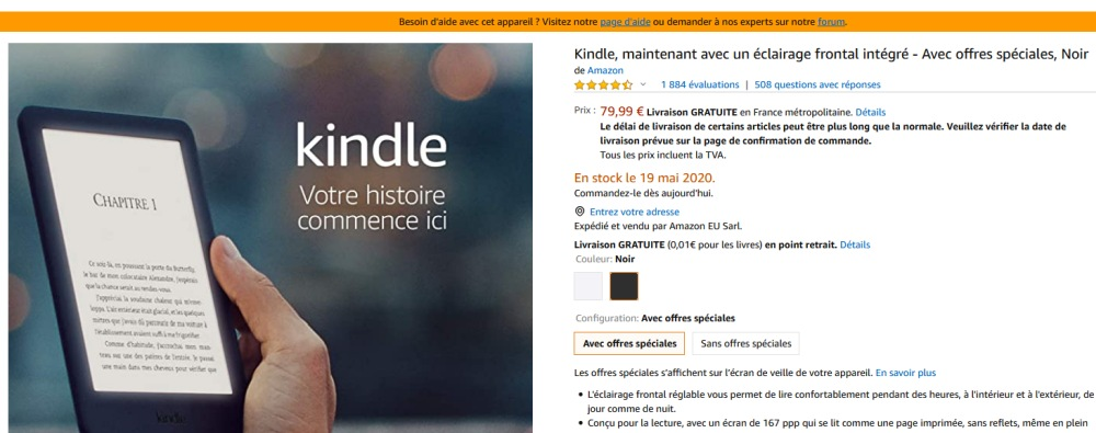 stock kindle avril 2020