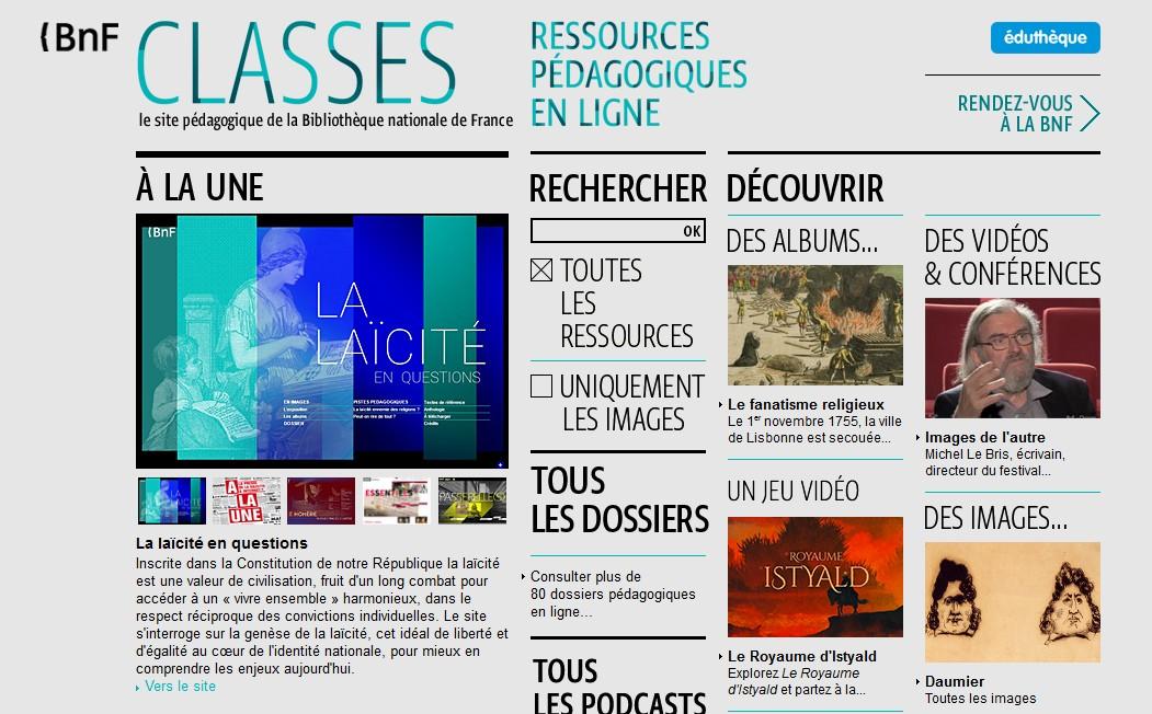 bnf site pédagique