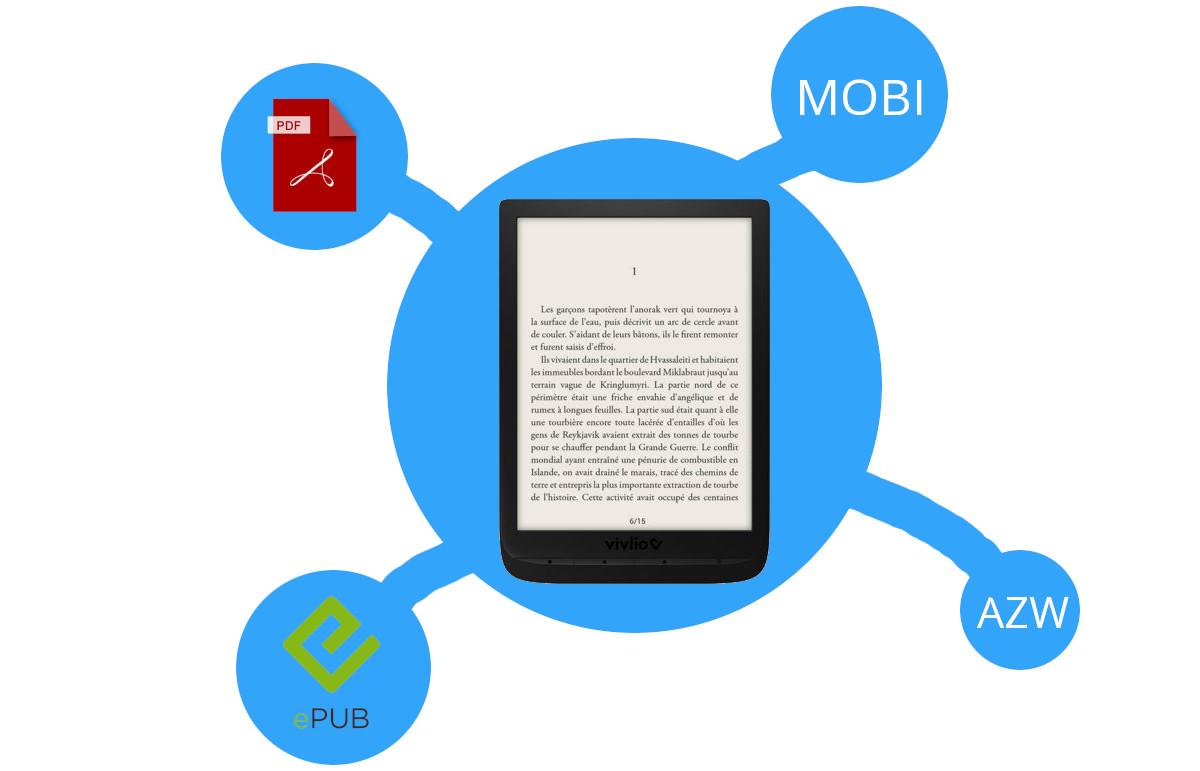 liseuse format ebook