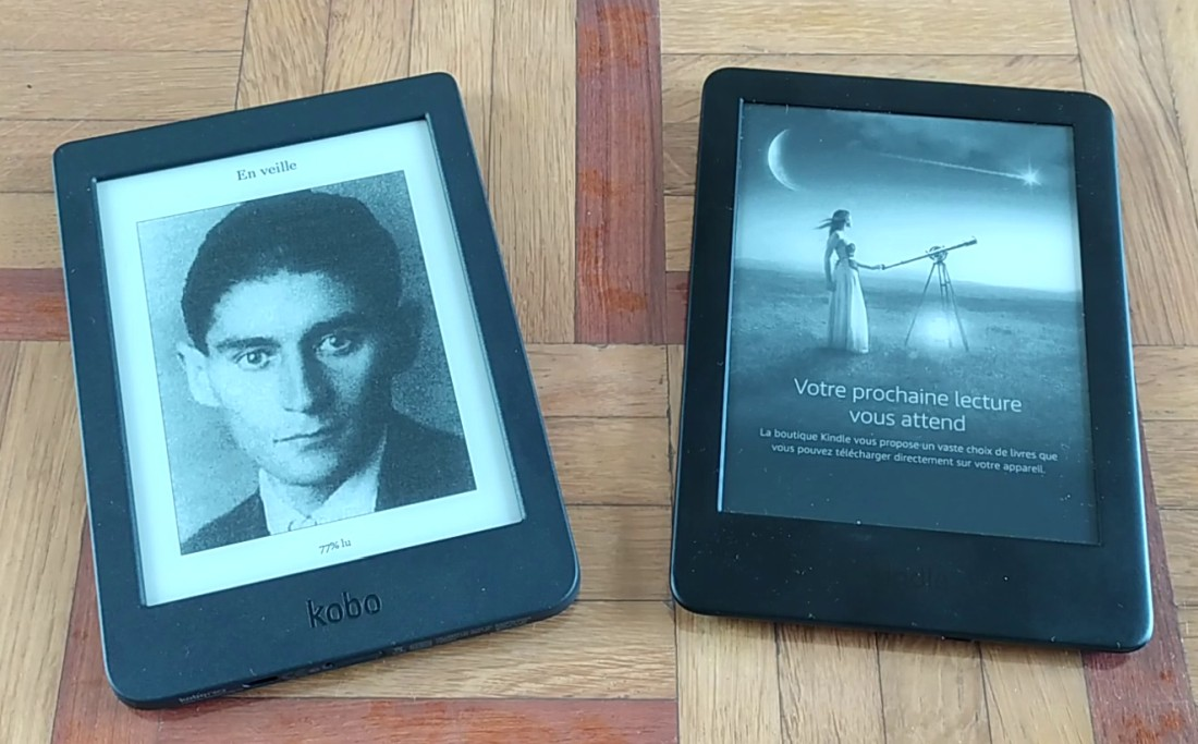 comparatif kobo nia vs kindle