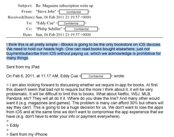 email de steve jobs à eddy cue