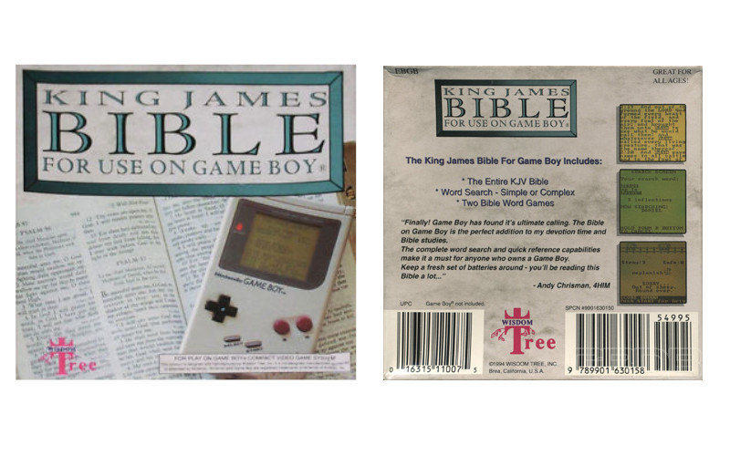 bible king james sur Game Boy